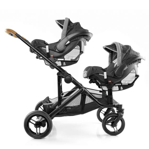 Two infant car seats on SOLO and TANGO stroller